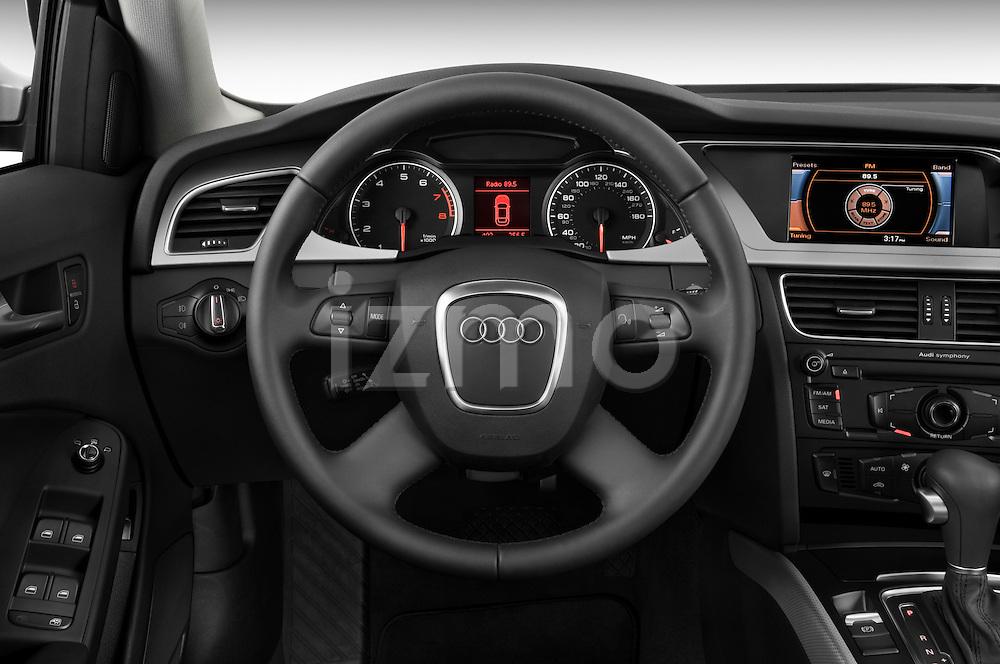 Steering wheel view of a 2011 Audi A4 Sedan