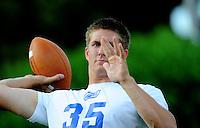 Jun. 13, 2009; Las Vegas, NV, USA; Casey Bramlet throws a pass during the United Football League workout at Sam Boyd Stadium. Mandatory Credit: Mark J. Rebilas-