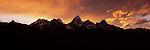 A sunset above the Teton Range in Grand Teton National Park, Wyoming.