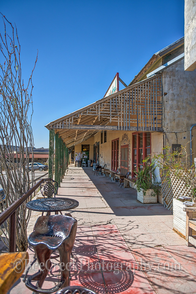 Another look down the front porch in Terlingua