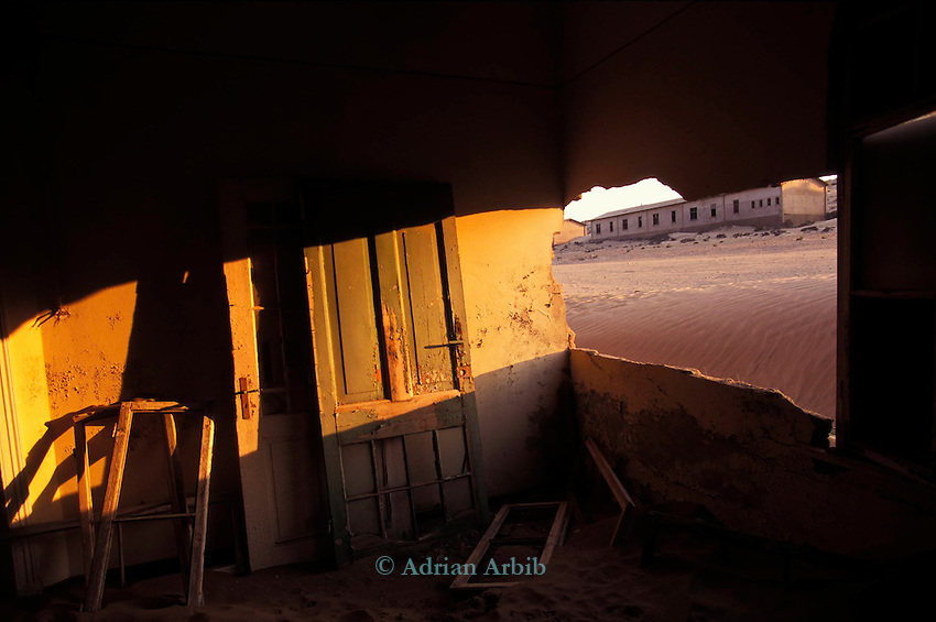 The abandoned Diamond town of Kolmanskop near Luderitz in southern Namibia.
