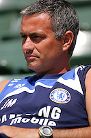 Chelsea FC Head Coach Jose Mourinho during David Beckham's first practice with LA Galaxy at the Home Depot Center in Carson, California, Monday, July 16, 2007.
