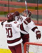 Kate Buesser (Harvard - 20), Liza Ryabkina (Harvard - 3) - The Harvard University Crimson defeated the Boston College Eagles 5-0 in their Beanpot semi-final game on Tuesday, February 2, 2010 at the Bright Hockey Center in Cambridge, Massachusetts.