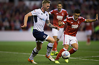 George Saville of Millwall battles with Zach Clough of Nottingham Forest during the Sky Bet Championship match between Nottingham Forest and Millwall at the City Ground, Nottingham, England on 4 August 2017. Photo by James Williamson / PRiME Media Images.