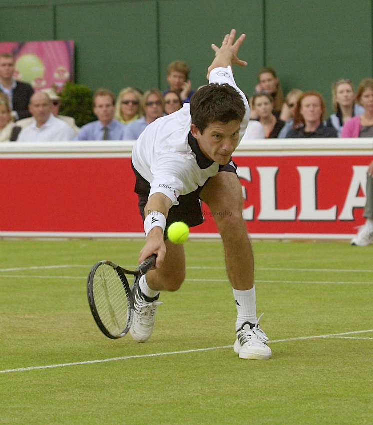 Photo:Ken Brown .11/06/2001. .Stella Artois Championship 2001 .Tim Henman in his straight sets victory over Paradorn Srichaphan