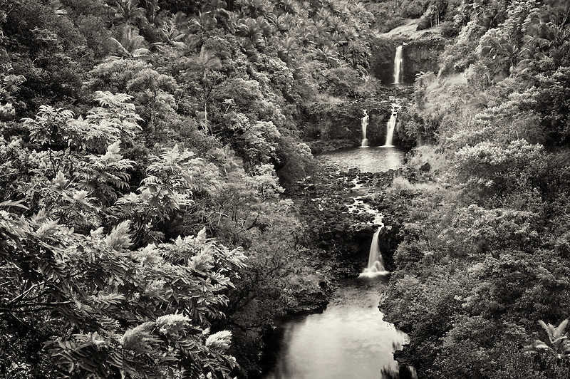 UmaUma Falls. Hawaii, THe Big Island.