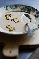 Europe/France/Centre/41/Loir-et-Cher/Sologne/Bracieux: Velouté aux cèpes de Sologne, recette de Didier Doreau, du Rendez-vous des Gourmets  //France, Loir et Cher, Sologne, Bracieux: Cep Cream,  by  Didier Doreau, chef: rendezvous Gourmets Bracieux