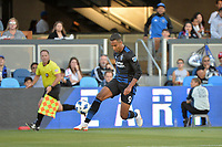 San Jose, CA - Wednesday June 13, 2018: Danny Hoesen during a Major League Soccer (MLS) match between the San Jose Earthquakes and the New England Revolution at Avaya Stadium.