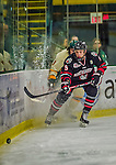 17 December 2013:  Northeastern University Huskies Defenseman Matt Benning, a Freshman from St. Albert, Alberta, in second period action against the University of Vermont Catamounts at Gutterson Fieldhouse in Burlington, Vermont. The Huskies shut out the Catamounts 3-0 to end UVM's 5 game winning streak. Mandatory Credit: Ed Wolfstein Photo *** RAW (NEF) Image File Available ***