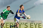 David Moran Kerry in action against Cian Sheehan Limerick in the Final of the McGrath Cup at the Gaelic Grounds on Sunday.
