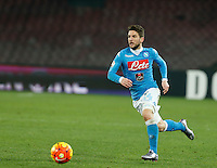 Napoli's Dries Mertens controls the ball during the Quartef-final of Tim Cup soccer match,between SSC Napoli and vFC Inter    at  the San  Paolo   stadium in Naples  Italy , January 20, 2016