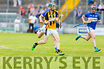 David Egan of Abbeydorney in action against St Brendans, in R2 of the Senior Hurling Championship in Austin Stack Park on Sunday.