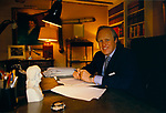 Winston Churchill MP in his study Westminster London 1986. 1980s UK