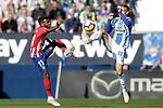 CD Leganes' Rodrigo Tarin (r) and Atletico de Madrid's Thomas Lemar during La Liga match. November 3,2018. (ALTERPHOTOS/Acero)