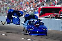 Feb. 18, 2012; Chandler, AZ, USA; NHRA top sportsman driver Mera Silva during qualifying for the Arizona Nationals at Firebird International Raceway. Mandatory Credit: Mark J. Rebilas-