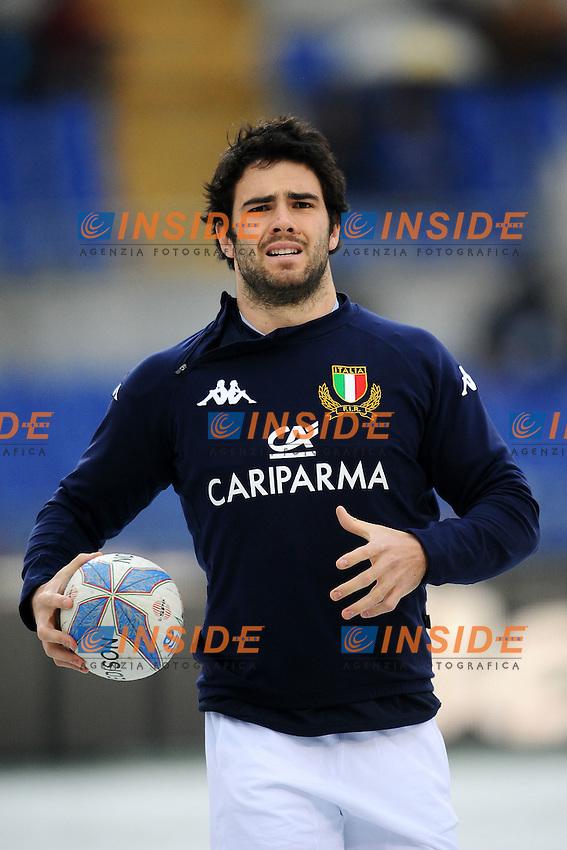 """Luke McLean Italia.Roma 11/20/2012 Stadio """"Olimpico"""".Rugby 6 Nations Tournament - Torneo delle 6 Nazioni 2012.Italia Vs Inghilterra - Italy Vs England .Foto Insidefoto Andrea Staccioli"""