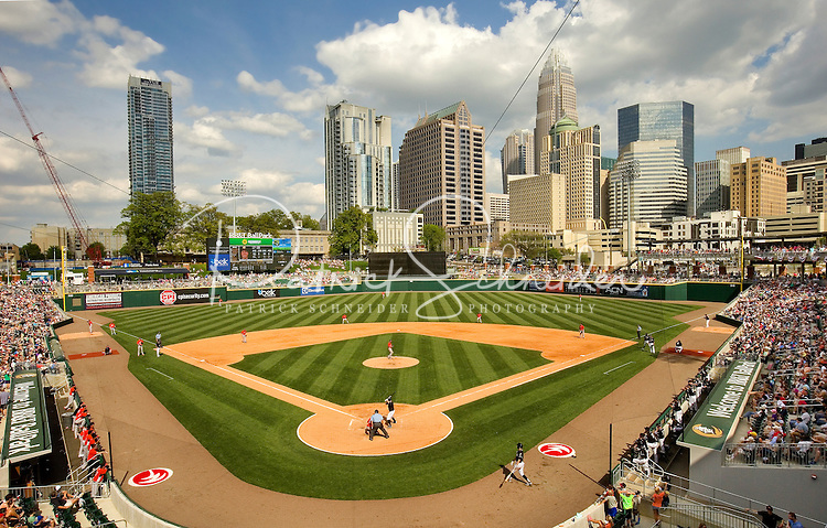 BB&amp;T BallPark - located in Uptown Charlotte, NC is the home of the International League AAA Charlotte Knights baseball team. The  10,000 seat natural grass field is located against the beautiful Center City Charlotte skyline. The stadium overs a panoramic view of the Charlotte, North Carolina skyline.<br />