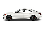 Car Driver side profile view of a 2018 Mercedes Benz CLS-Class AMG-CLS63-4MATIC 4 Door Sedan Side View