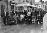Group outside Dan Courtney's pub in College Street, Killarney in 1952.