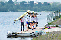 Caversham, Nr Reading, Berkshire.<br /> <br /> Crews Boating from the Pontoon. Olympic Rowing Team Announcement morning training before the Press conference at the RRM. Henley.<br /> <br /> Thursday  DATE}<br /> <br /> [Mandatory Credit: Peter SPURRIER/Intersport Images]