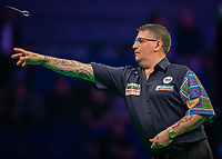 12th March 2020; M and S Bank Arena, Liverpool, Merseyside, England; Professional Darts Corporation, Unibet Premier League Liverpool; Gary Anderson during his night six match against Nathan Aspinall