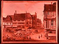 Frankfurt: Der Liebfrauenberg von Ch. G. Schutz d. A um 1755. Reference only.