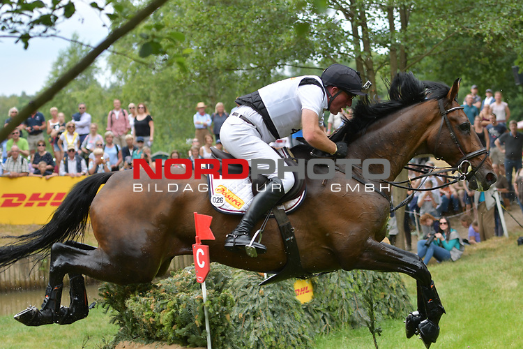 16.06.2018,  GER;  Luhmuehlen 2017, Vielseitigkeit, Gelaendepruefung C****, im Bild  Joerg Kurbel (GER) auf Josera´s Entertain You am DHL Komplex Foto © nordphoto / Witke *** Local Caption ***