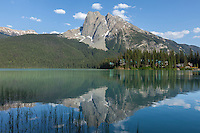 Mount Burgess reflects on Emerald Lake in Yoho National Park