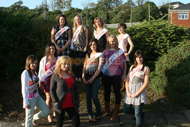 Dunleer Rose Contestants, Sinead McCartney (Pats Gift Shop), Melissa Butterly (The Secret Salon), Lisa Bickmore (Centra), Michelle Toner (Darbys), Julieanne McKeown (Shermans), Stephanie Larkin (Bradleys), Leah Carrie (Post Office), Gillian Finlay (Franklyn Cafe), Sinead McGill (Bia Cafe) at the Launch of the Contest with last years winner Ciara Kelly. Missing from photo Sarah Kennedy (Thomas Clare Accountants)...Photo NEWSFILE/Jenny Matthews.(Photo credit should read Jenny Matthews/NEWSFILE)....This Picture has been sent you under the condtions enclosed by:.Newsfile Ltd..The Studio,.Millmount Abbey,.Drogheda,.Co Meath..Ireland..Tel: +353(0)41-9871240.Fax: +353(0)41-9871260.GSM: +353(0)86-2500958.email: pictures@newsfile.ie.www.newsfile.ie.FTP: 193.120.102.198.