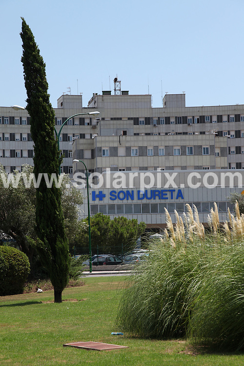 **ALL ROUND PICTURES FROM SOLARPIX.COM**.**WORLDWIDE SYNDICATION RIGHTS**.British girl Grace Ford is seriously ill after apparently falling 90ft from a balcony in Mallorca. Grace is thought to have tried to sneak out of a male friend's seventh floor apartment in Magaluf in the early hours because visitors were banned from the rooms, but fell to the ground from a window, breaking both her legs and her pelvis. Mallorca, Spain. 20 July 2010..This pic: Son Dureta hospital in Palma, Mallorca where Grace is in a serious condition with family by her bedside..JOB REF: 11718 STJ DATE: 20_07_2010.**MUST CREDIT SOLARPIX.COM OR DOUBLE FEE WILL BE CHARGED**.**MUST AGREE FEE BEFORE ONLINE USAGE**.**CALL US ON: +34 952 811 768 or LOW RATE FROM UK 0844 617 7637**