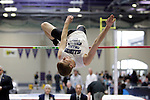 11 MAR 2011: Dillon Binkley of Illinois College high jumps during the the Division III Men's and Women's Indoor Track and Field Championships held at the Capital Center Fieldhouse on the Capital University campus in Columbus, OH.  Jay LaPrete/NCAA Photos