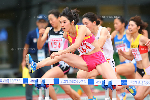 Hitomi Shimura, <br /> JUNE 25, 2016 - Athletics : <br /> The 100th Japan Track &amp; Field National Championships <br /> Women's 100m Hurdles Heat <br /> at Paloma Mizuho Stadium, Aichi, Japan. <br /> (Photo by YUTAKA/AFLO SPORT)