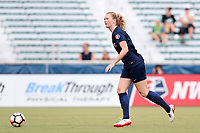 Cary, North Carolina  - Saturday July 01, 2017: Samantha Mewis during a regular season National Women's Soccer League (NWSL) match between the North Carolina Courage and the Sky Blue FC at Sahlen's Stadium at WakeMed Soccer Park. Sky Blue FC won the game 1-0.
