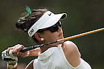 CHON BURI, THAILAND - FEBRUARY 16:  Michelle Wie of USA tees off on the 9th hole during day one of the LPGA Thailand at Siam Country Club on February 16, 2012 in Chon Buri, Thailand.  Photo by Victor Fraile / The Power of Sport Images