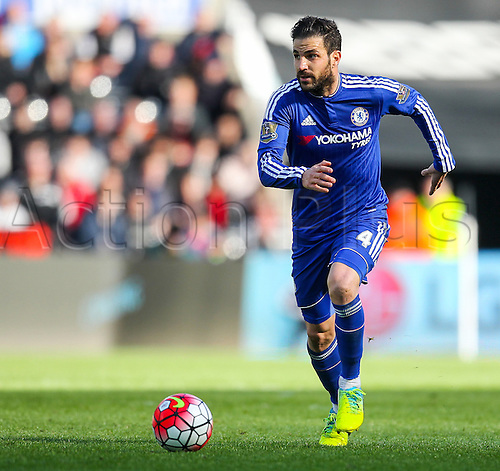 09.04.2016. Liberty Stadium, Swansea, Wales. Barclays Premier League. Swansea versus Chelsea. Chelsea's Cesc Fàbregas in action during the match