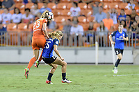 Houston, TX - Sunday August 13, 2017:  Cami Privett and Brittany Ratcliffe during a regular season National Women's Soccer League (NWSL) match between the Houston Dash and FC Kansas City at BBVA Compass Stadium.