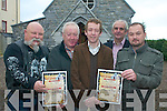 ARTS: Members of the Chapel Arts Group in Killorglin who will be hosting a series of arts events in the old Wesleyan Church on Market Street, l-r: Pat Healy, Edso Crowley, Ger Foley, Michael C. Ahern, Shane McElroy.   Copyright Kerry's Eye 2008