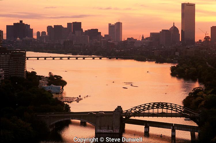 Sunrise Charles River, from BU, Boston, MA