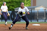 25 April 2016: Notre Dame's Micaela Arizmendi. The University of North Carolina Tar Heels hosted the University of Notre Dame Fighting Irish at Anderson Stadium in Chapel Hill, North Carolina in a 2016 NCAA Division I softball game. UNC won the game 7-6.