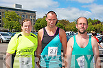 Christine and Robert Purcell, Listowel and Ger Ladden, Keel enjoying the Irish Heart Foundation mini marathon on Sunday.