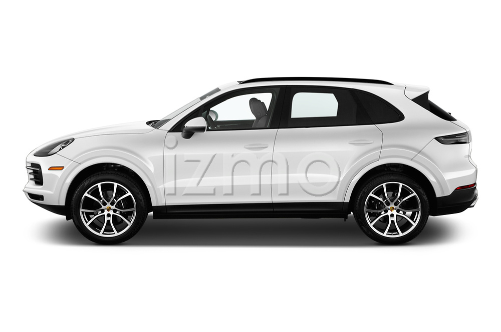 Car driver side profile view of a 2020 Porsche Cayenne Base 5 Door SUV