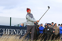 Stephen Gallacher (SCO) on the 17th tee during round 4 of the Alfred Dunhill Links Championship at Old Course St. Andrew's, Fife, Scotland. 07/10/2018.<br /> Picture Thos Caffrey / Golffile.ie<br /> <br /> All photo usage must carry mandatory copyright credit (&copy; Golffile | Thos Caffrey)