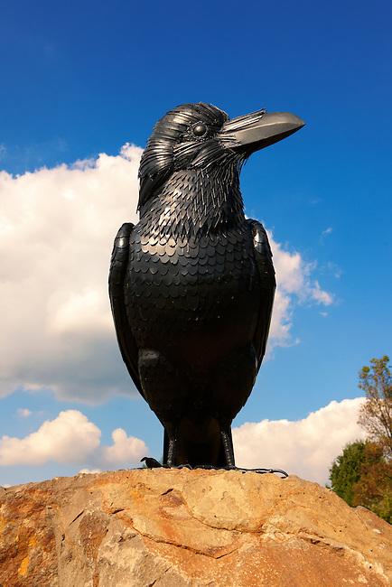 Hollók? (english : Raven on a stone - Holoko )  Paloc ethnographic village mascott. Hungary