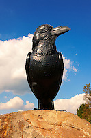 Hollók? (english : Raven on a stone - Holoko )  Paloc ethnographic village mascott. Hungary