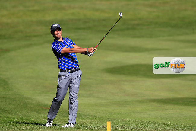 Matteo MANASSERO (ITA) during round 1 of the 2015 BMW PGA Championship over the West Course at Wentworth, Virgina Water, London. 21/05/2015<br /> Picture Fran Caffrey, www.golffile.ie:
