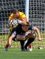 Action from the 2018-19 ISPS Handa Premiership football match between Team Wellington and Hawkes Bay United at David Farrington Park in Wellington, New Zealand on Sunday, 18 November 2018. Photo: Dave Lintott / lintottphoto.co.nz