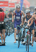 31 AUG 2007 - HAMBURG, GER - Dann Brook (GBR) - Under 23 Mens World Triathlon Championships. (PHOTO (C) NIGEL FARROW)