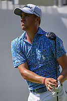 Justin Thomas (USA) watches his tee shot on 10 during 3rd round of the World Golf Championships - Bridgestone Invitational, at the Firestone Country Club, Akron, Ohio. 8/4/2018.<br /> Picture: Golffile | Ken Murray<br /> <br /> <br /> All photo usage must carry mandatory copyright credit (© Golffile | Ken Murray)