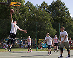 July 8, 2017- Tuscola, IL- Creed Yets takes the ball to the basket in the 3 on 3 basketball tourney during the 2017 Tuscola Sparks in the Park celebration. [Photo: Douglas Cottle]