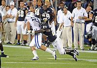 Florida International University football player defensive back Jose Cheeseborough (27) plays against the Duke University on October 01, 2011 at Miami, Florida. Duke won the game 31-27. .